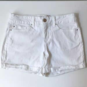 Faded Glory White Shorts